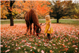 Little girl with horse.