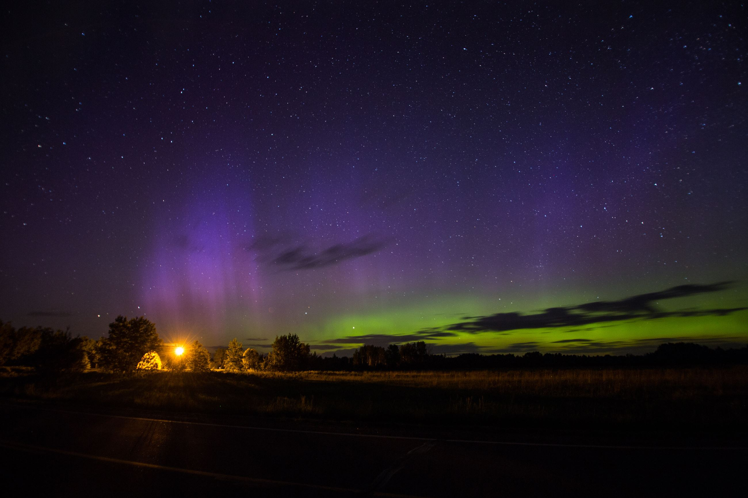 Northern Lights in Kathio Township.