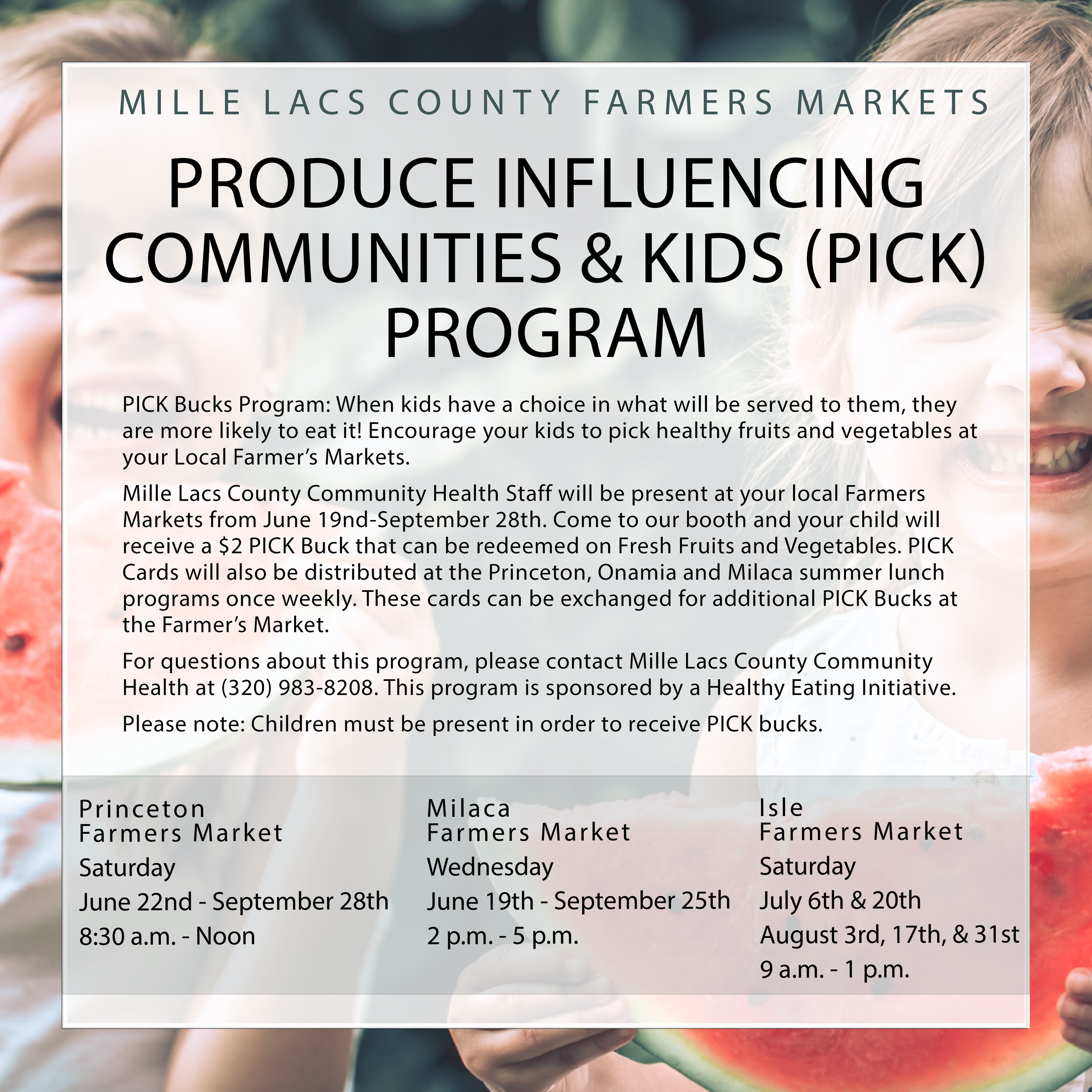 Produce Influencing Communities & Kids Flyer