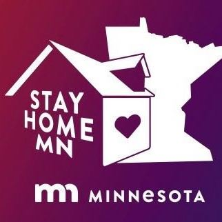 """Stay Home MN"" logo"