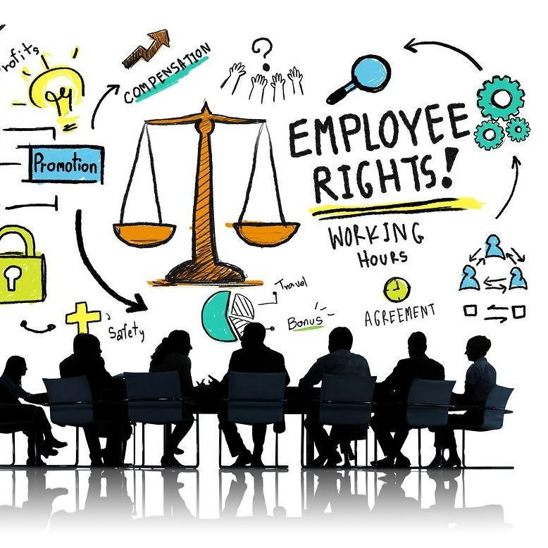 """Employee Rights!"" graphic"