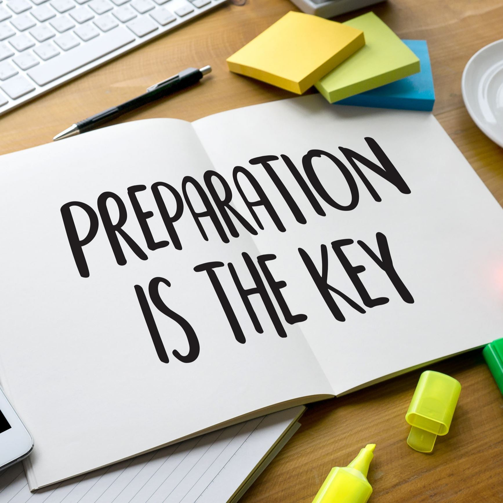 """Preparedness is Key"" written on paper"