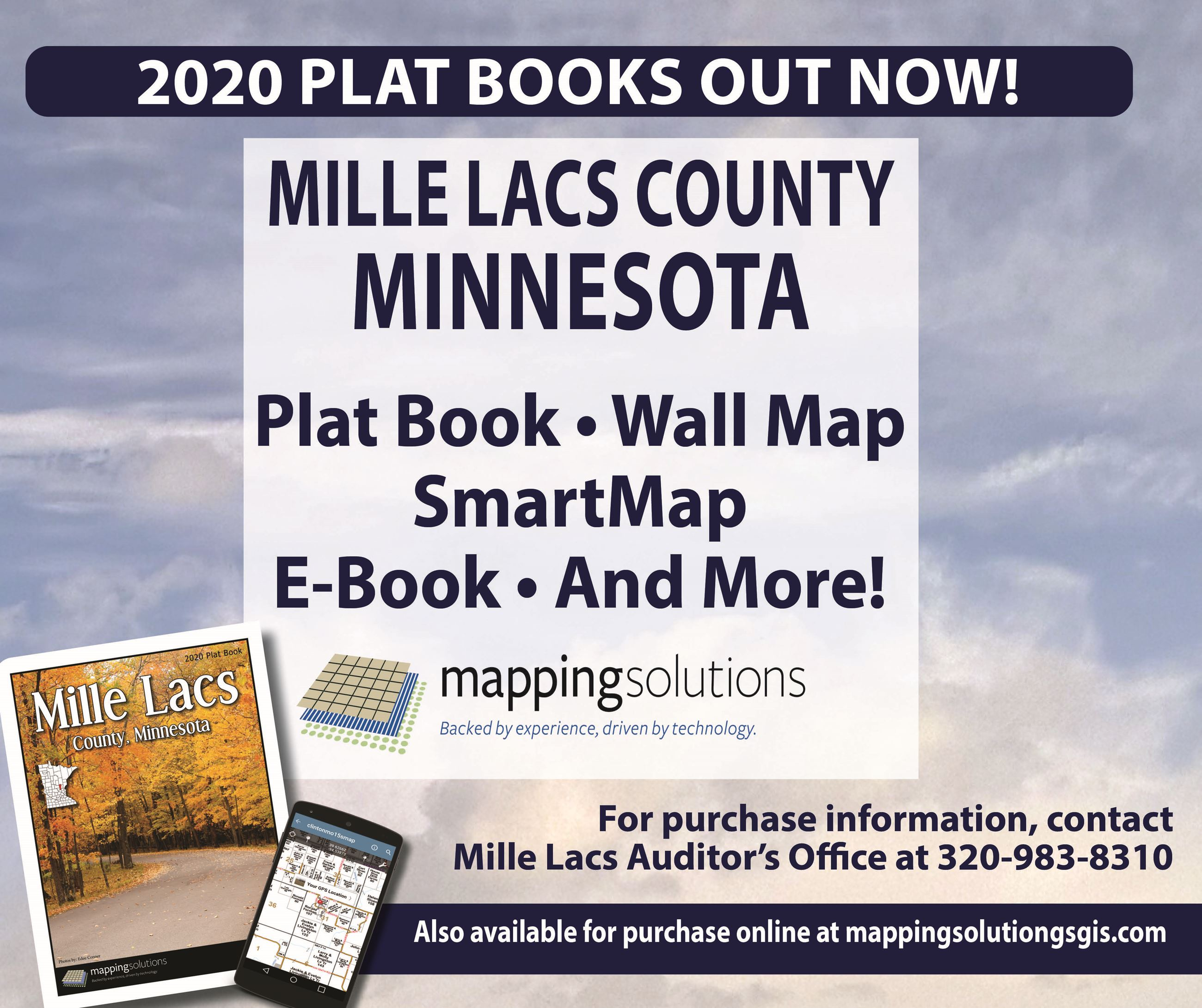 񓠄 Plat Books out now! Mille Lacs County, Minnesota. Plat Book, Wall Map, SmartMap, E-book""