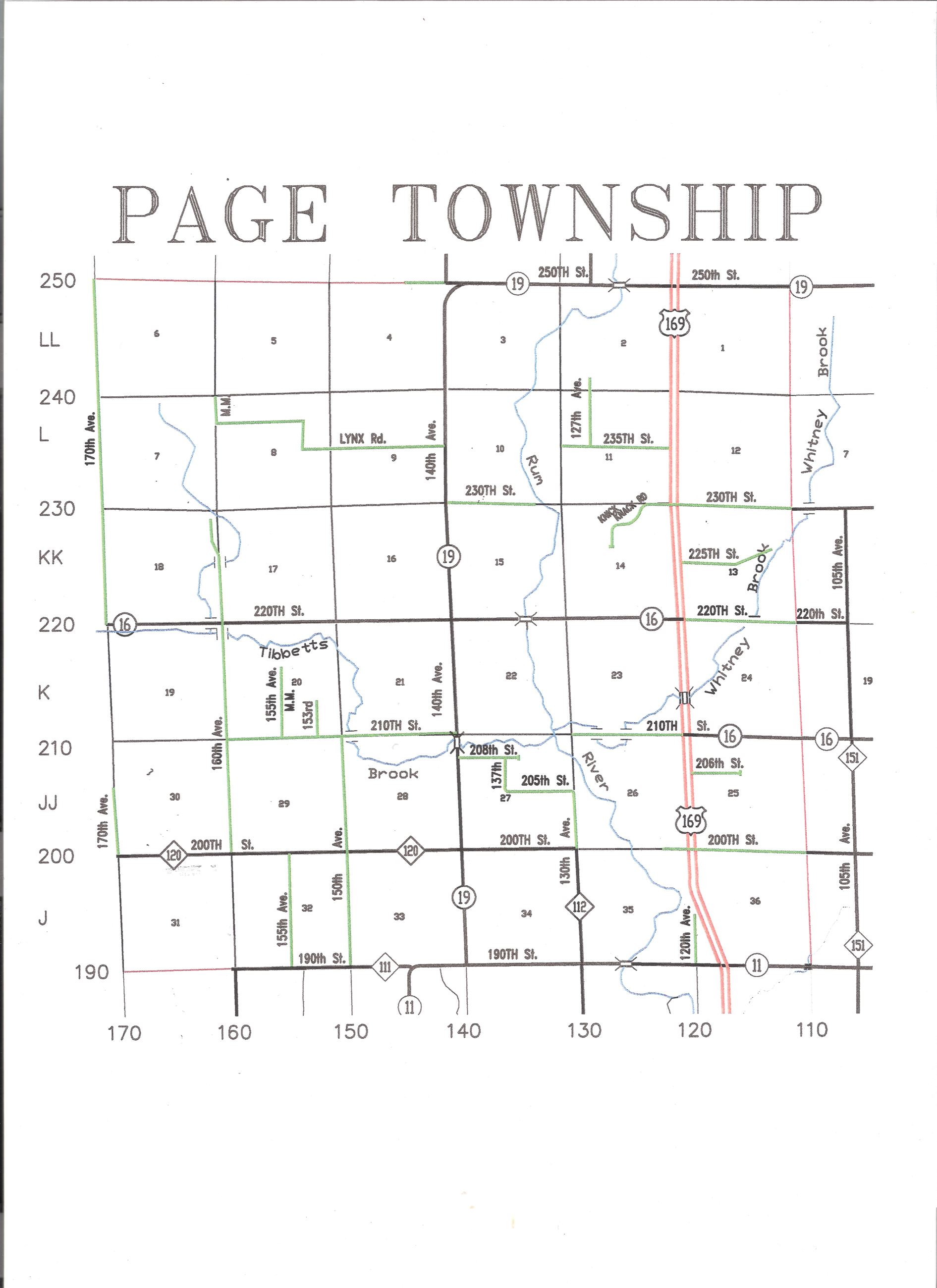 Page Township Road Map (JPG) Opens in new window